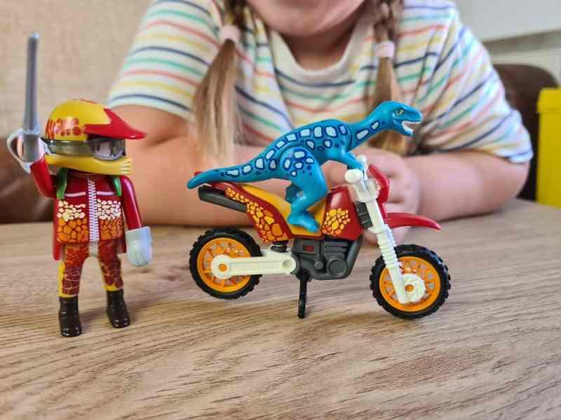Playmobil Dinos Motorcross with Raptor