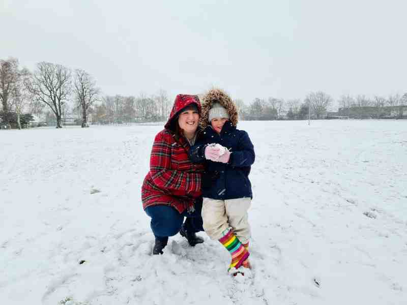 Me and Erin in the snow