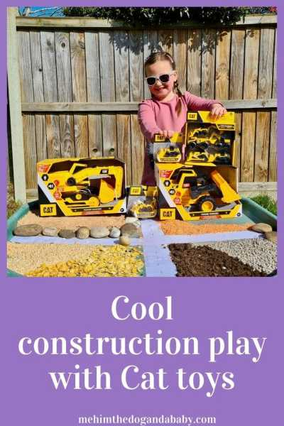 Cool construction play with Cat toys