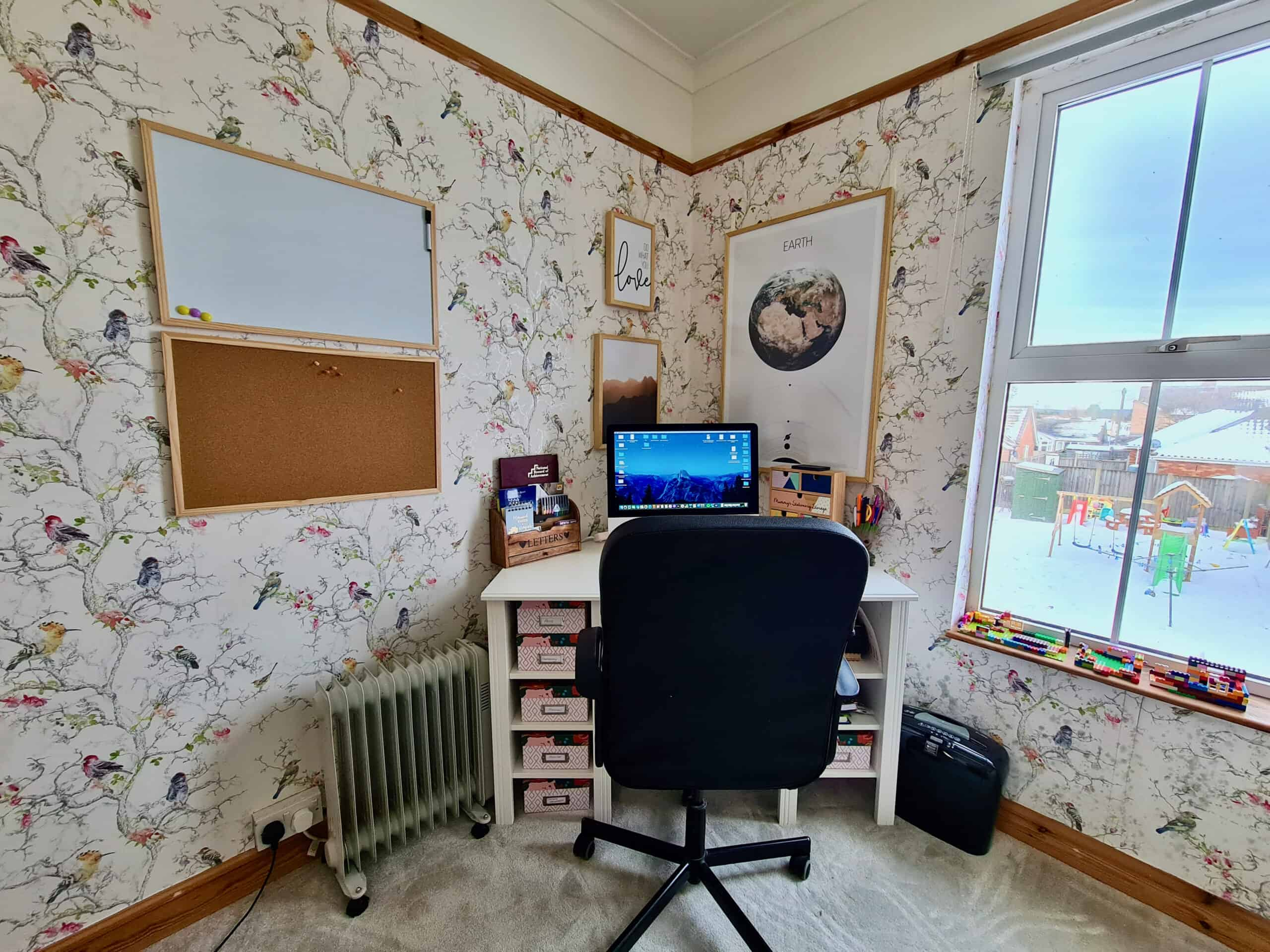 Home office desk corner
