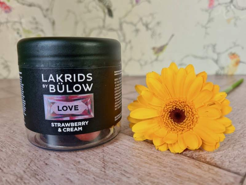 Lakrids LOVE Strawberries & Cream Chocolate Coated Liquorice