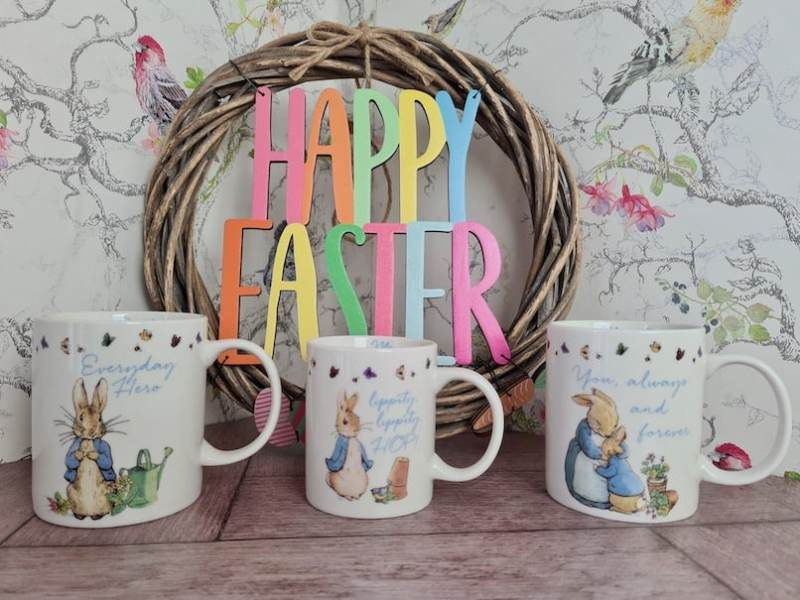 Peter Rabbit mug set