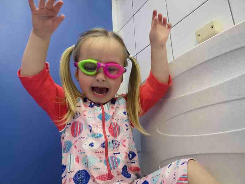 Erin in goggles