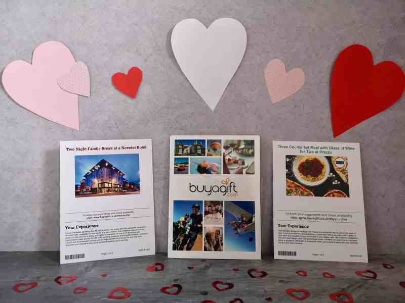 Buy A Gift experience vouchers