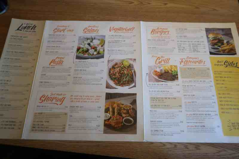 Mash and Barrel Menu Haven Caister-on-Sea