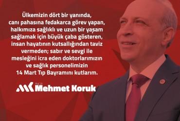 Prof. Dr. Mehmet Koruk 14 Mart Tıp Bayramı Kutlaması