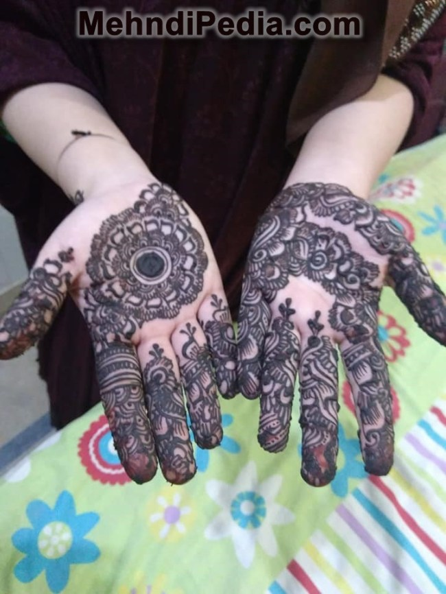 Simple Mehndi Design For Left Hand Mehndi Desings
