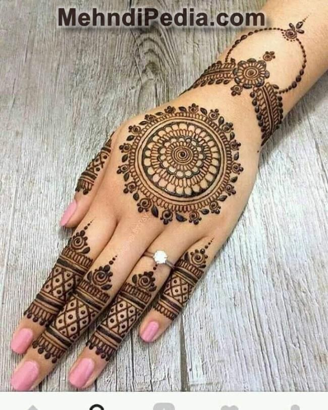 Simple Mehndi Design For Left Hand Mehndi Desings