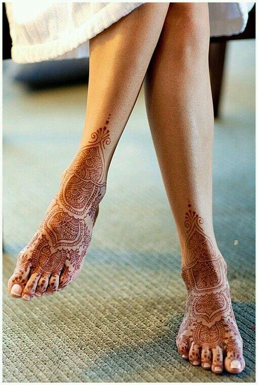 henna designs for feet arabic