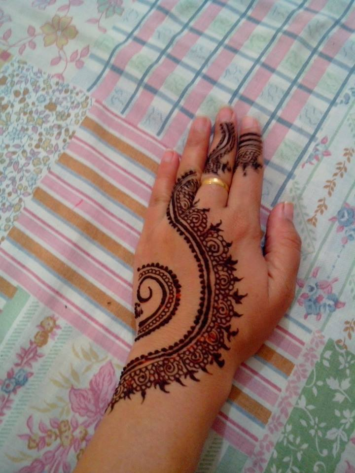 latest simple easy mehndi designs for back hand easy only