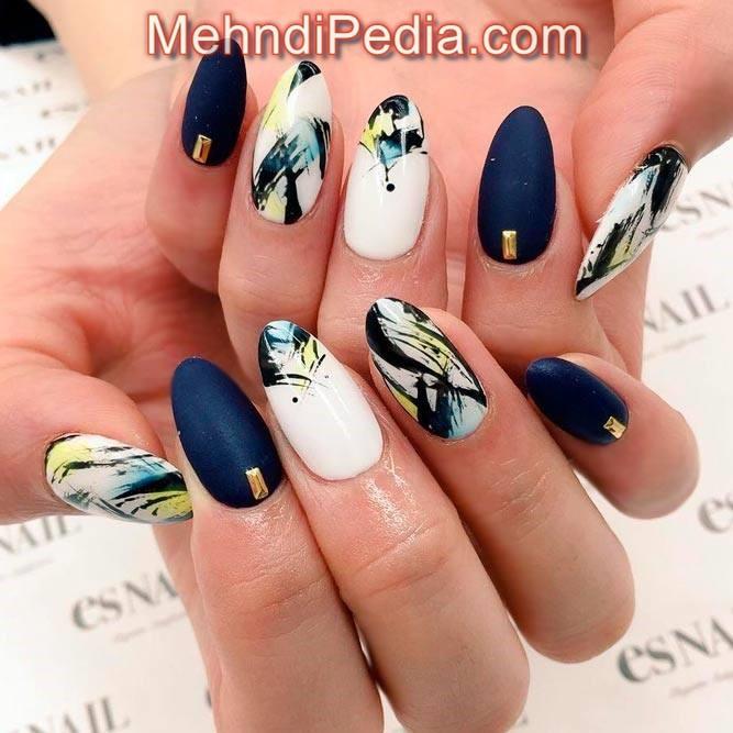 simple nail designs acrylic