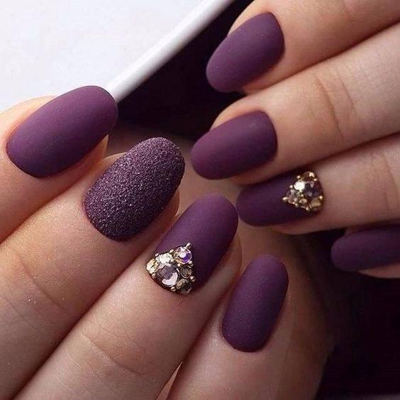 summer nail designs art in dark blue color