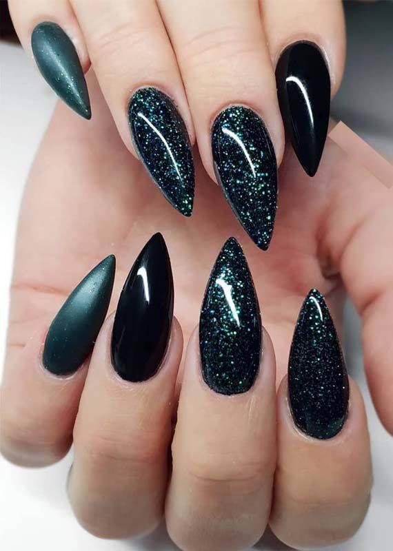 holiday nail ideas for long nail