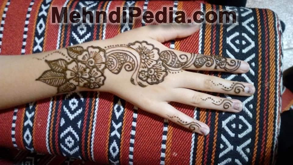 right back hand mehndi designs images