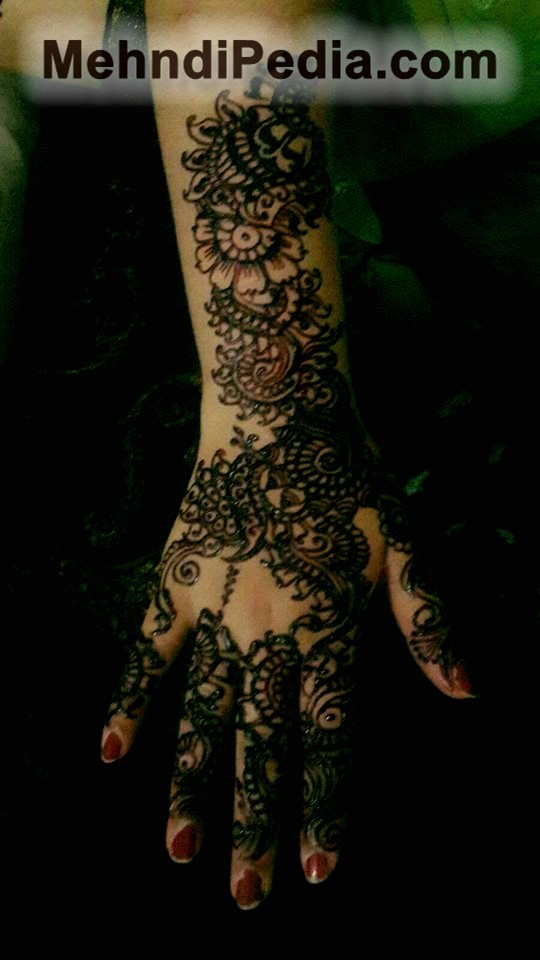 right hand full arm henna designs