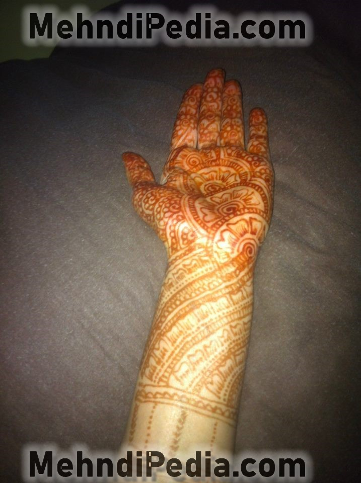 how to apply front side left hand henna mehndi designs