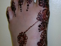 left foot right side mehndi designs step 2