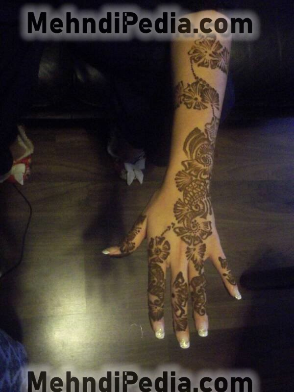 right hand arm mehndi designs easy back side