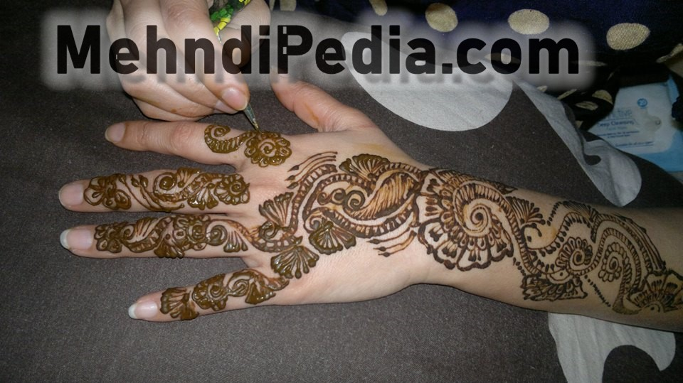 step by step arm mehndi designs easy
