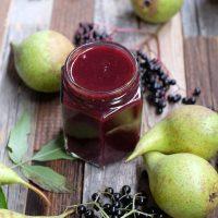 Holler-Birnenmus - Einmachen ohne Zucker & warum Holunderbeeren das lokale Superfood sind!