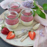 Panna Cotta mit Erdbeersauce (ohne Gelatine)