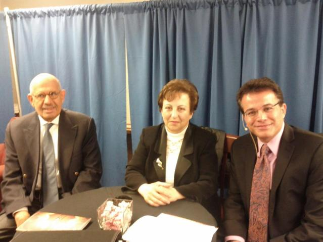 With Shirin Ebadi and El-Baradawi