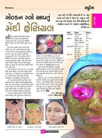 The article talks about special face packs and their beautifying benefits