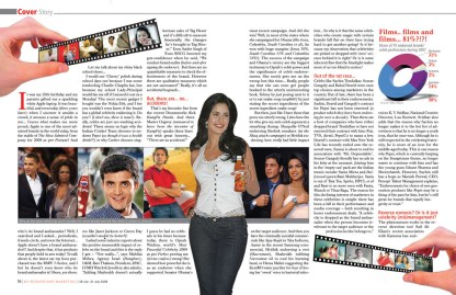 Celebrity Andorsment - Cover Story