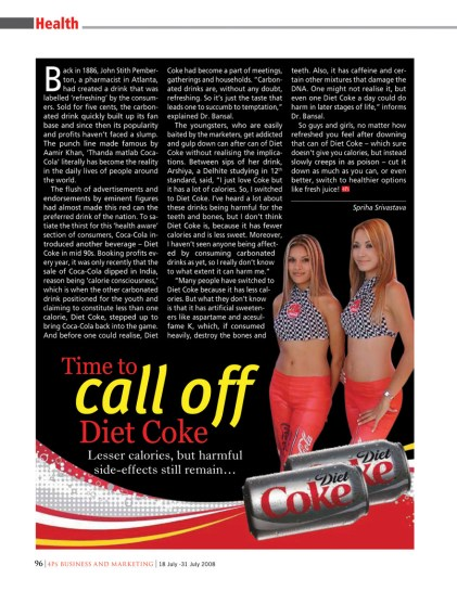 health - diet coke