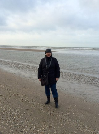 Meike am Strand in Wijk an Zee