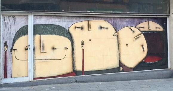 Streetart von Bisser in Gent