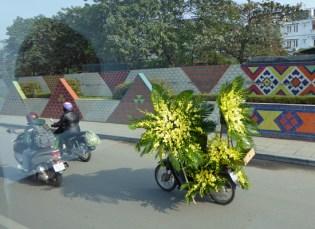 Eine Ladung Blumen in Hanoi