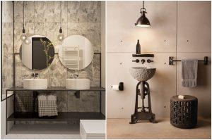 salle de bain de couleur beige creer