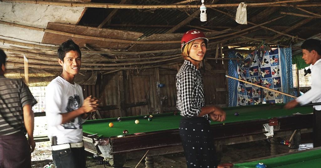 The shabby snooker house in Dala, Yangon