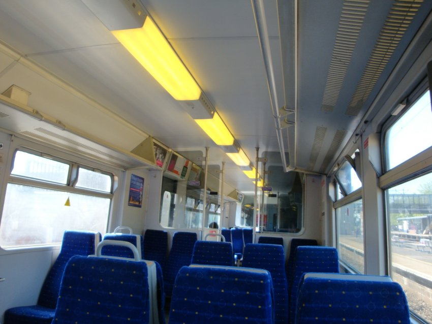 Had to switch to train at Bedford. I was lucky, cos the bus was early, so I could get an earlier train. Very empty. Loved it.
