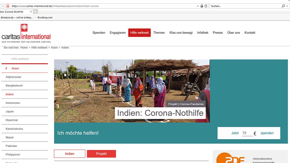 Caritas im Bistum Fulda bittet um Solidarität mit Indien