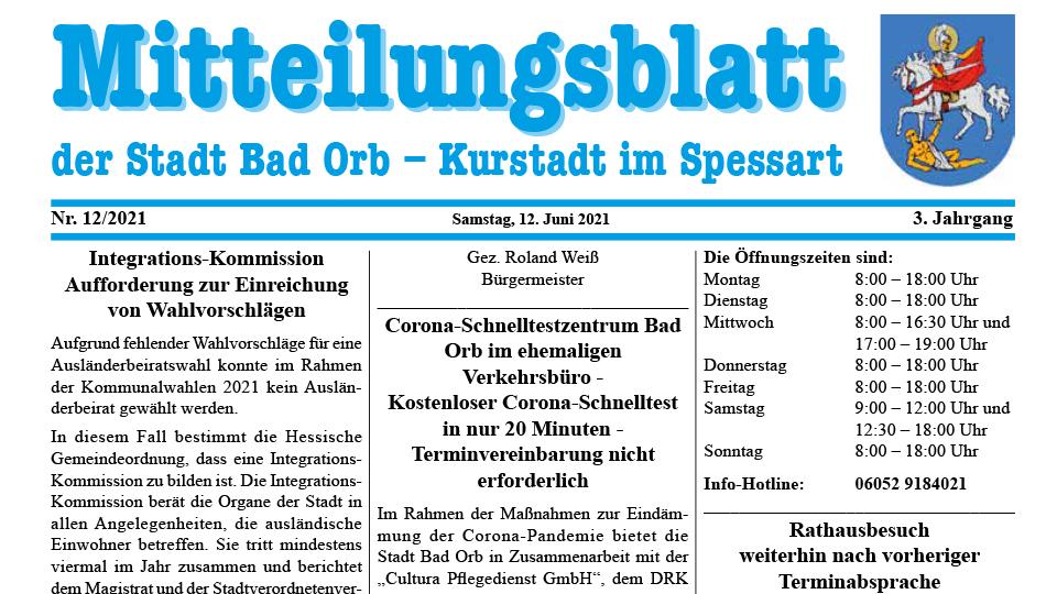 Mitteilungsblatt 2021/12