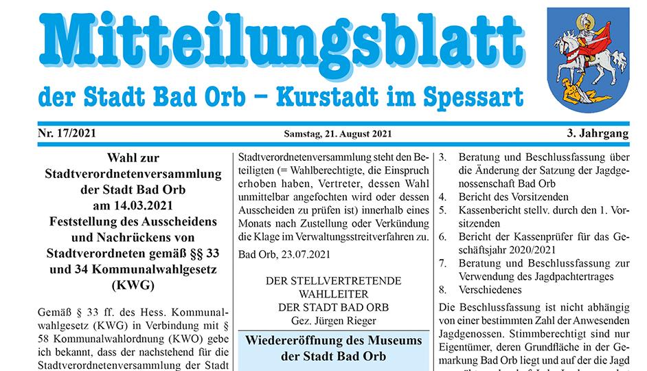 Mitteilungsblatt 2021/17