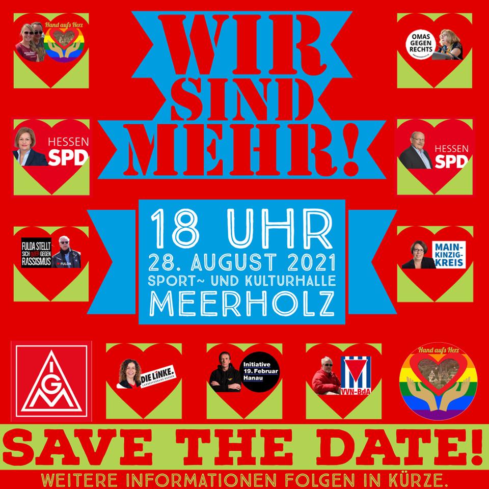 """Großkundgebung von """"Hand aufs Herz"""" am 28. August in Meerholz"""