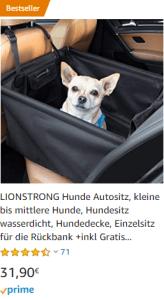 Hundesitz Auto Hund Chihuahua Welpe