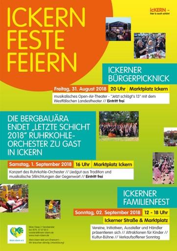 Plakat ICKERN FESTE FEIERN 2018