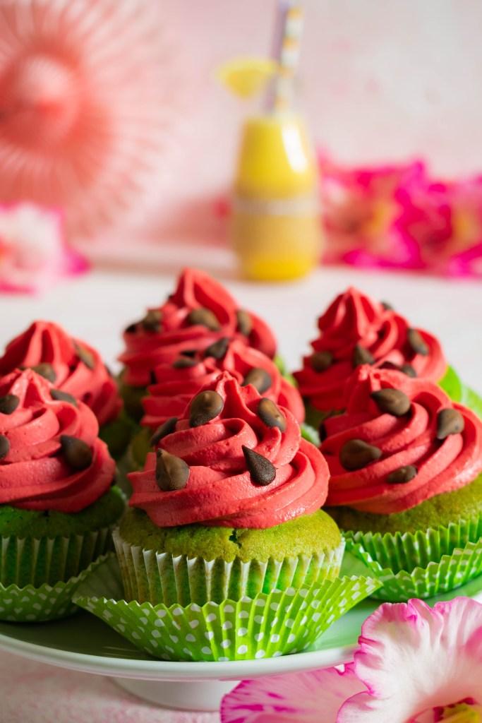 Wassermelonen Cupcakes