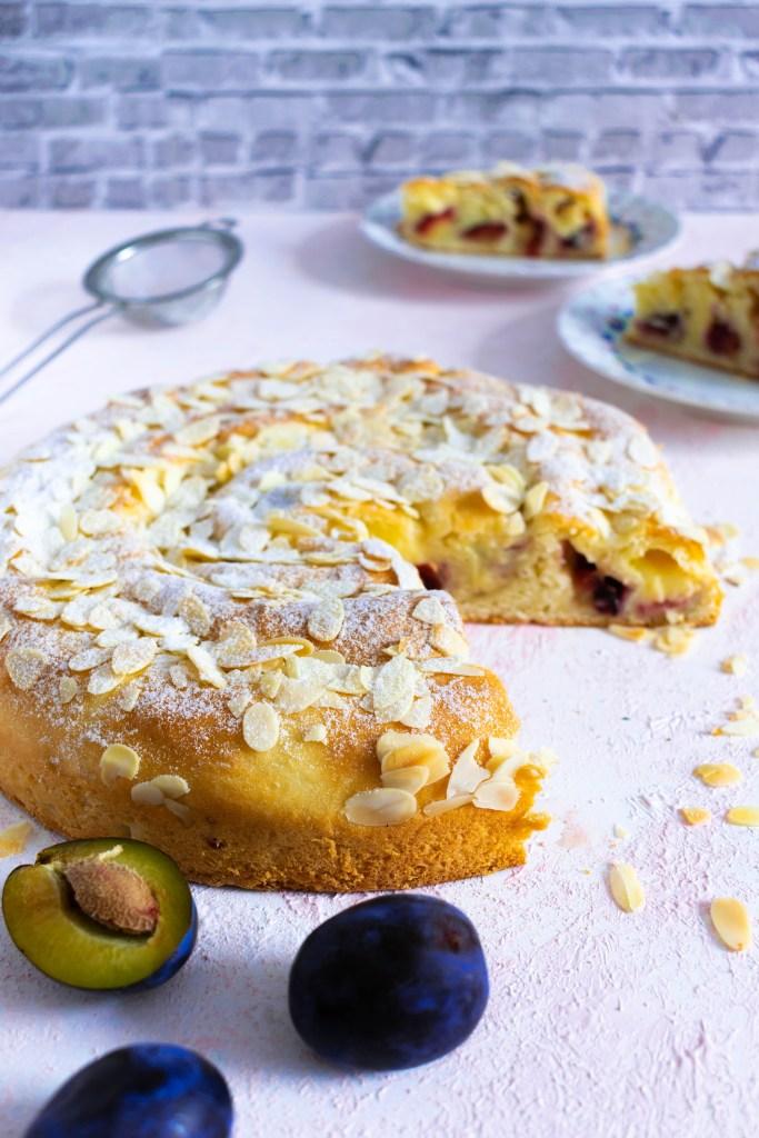 Zwetschgenkuchen mit Pudding