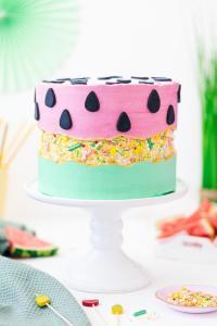 Sprinkle Fault Line Cake