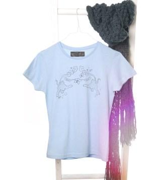 Shirt mit Tiger-Aufdruck, Farbe: lightblue