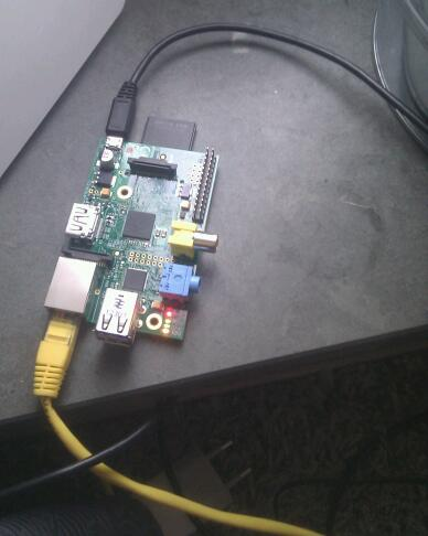 A connected Raspberry Pi