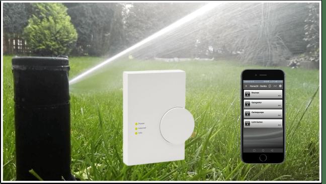 Remote Zugriff automatische Gartenbewässerung
