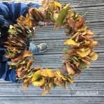 Natur mit Kindern: Unser Blätterkranz