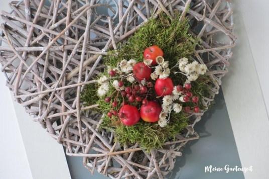Zieräpfel & Moos - gleich drei Dekoideen für Dein Haus