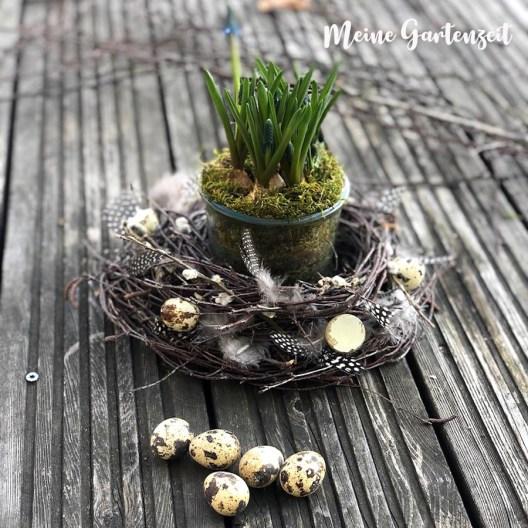 DIY Blumennest aus Birkenreisig